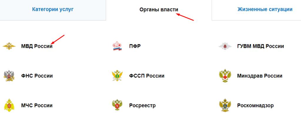 Органы власти - МВД
